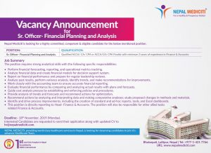ACCA Vacancy in Nepal Medicity Hospital - seed fincancial academy