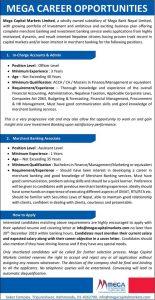 Mega Capital Vacancy Post