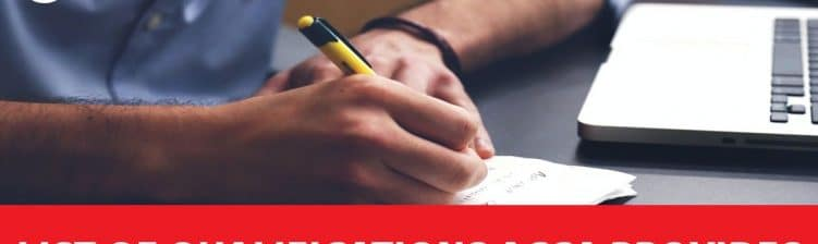 List of Qualifications ACCA Provides